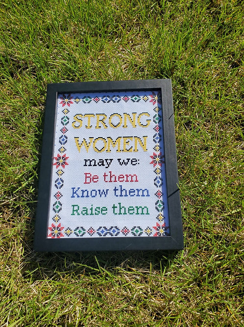 Strong Women Cross Stitch