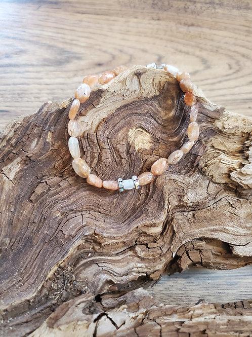 Sunstone & Moonstone Beaded Bracelet