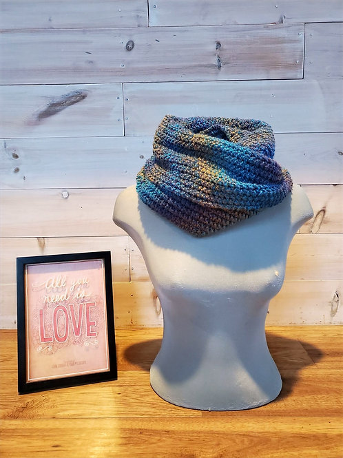 Blue Sea Eternity Scarf