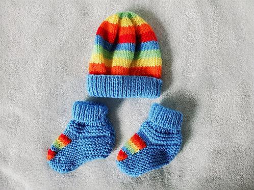Rainbow Baby Set 6-9 Months
