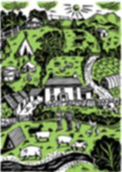 Permaculture farm scene