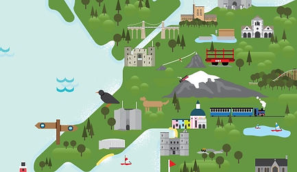 tourist map campsite glamping north wales