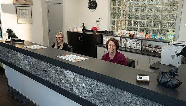 Front Desk Sandy and Katie Nanaimo Vet WAH