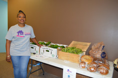 Fresh Veggies and Bread for distribution