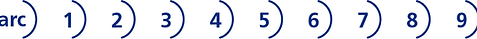 arc logo, action et recherche culturelles, chan logo, arc à flèche, logo visuel