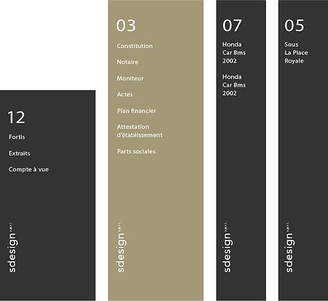 sdesign logo, agence de communication graphique bruxelles, signalétique, typographie