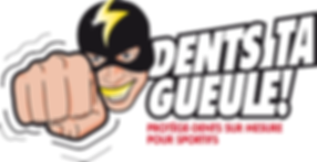 logo dents ta gueule!, prothésiste dentaire, laetitia de moor, chan logo, illustration chan, boxe, comics, super-héros