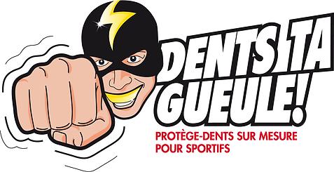 logo dents ta gueule!, prothésiste dentaire, laetitia de moor, chan logo, illustration chan, boxe, comics, super-héros