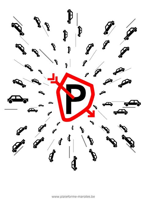 logo marolles, no parking, mobilité, chan logo, yvan mayeur, coeur de bruxelles, plateform pentagone, petite ceinture