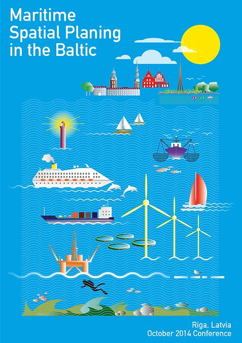 illustration mouette, affiche conférence maritime de riga, chan graphiste, mouette