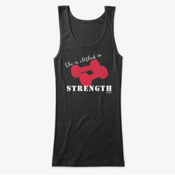 Clothed in Strength Tank sample