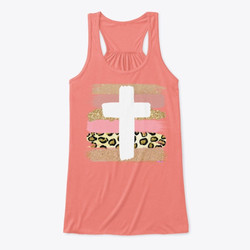 Striped Cross Collection Flowy Tank Sample