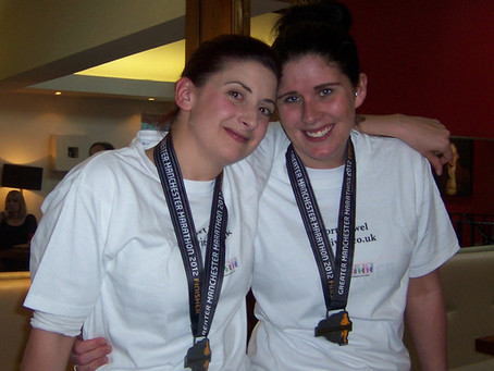 Jennifer Kingston and Megan Cook Manchester Marathon