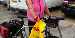 Jane Roberts - 27 mile uphill ride