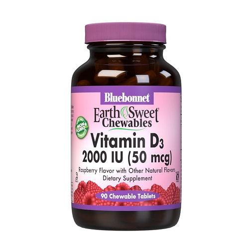 Earth Sweet Chewables Vitamin D3 2000 IU 50 mg 90ct.