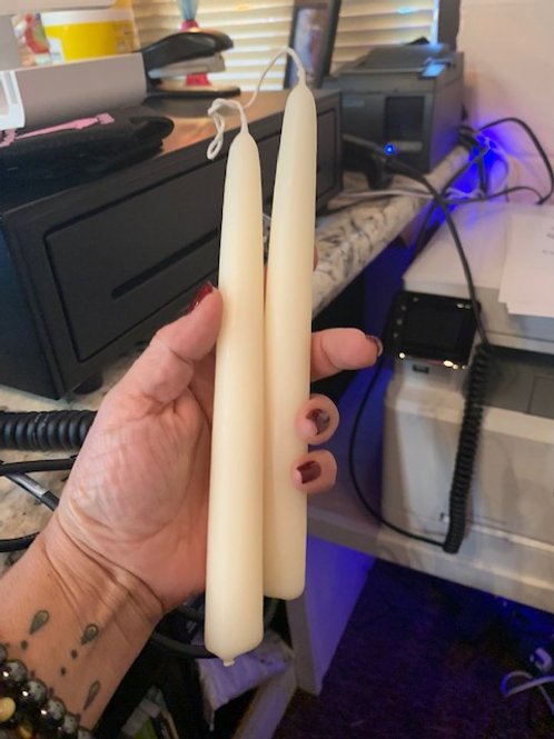 """Double Hung 9"""" Taper  ( white )"""
