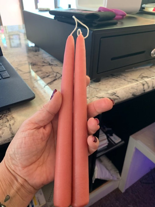 """Double Hung 9"""" taper (peach)"""