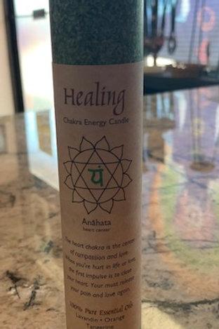 Healing Chakra Pillar Meditation Candles