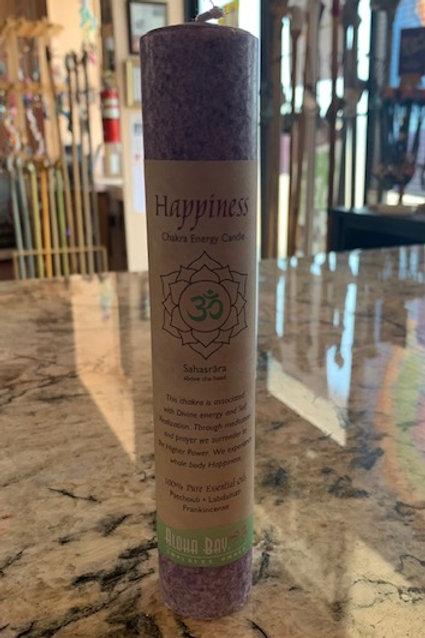Happiness Chakra Pillar Meditation Candles