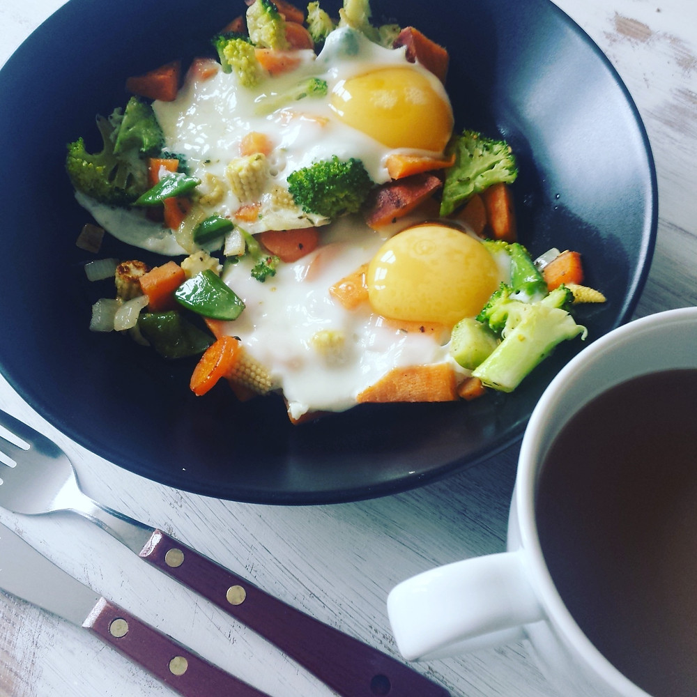 Veggie Eggs breakfast