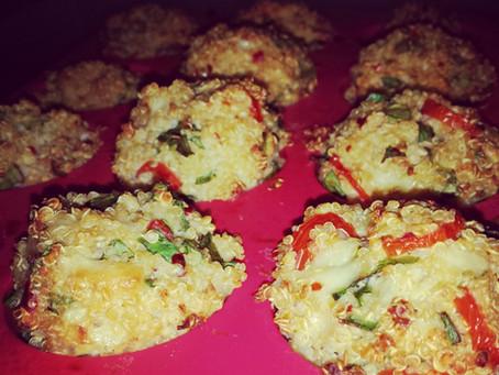 Easy peasy baked quinoa bites