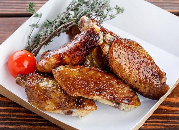Копченые куриные крылышки в соусе терияки