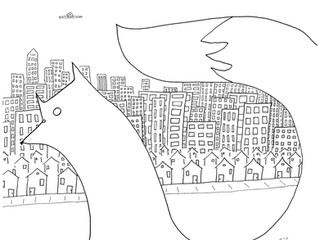 Fox and the City Sketch