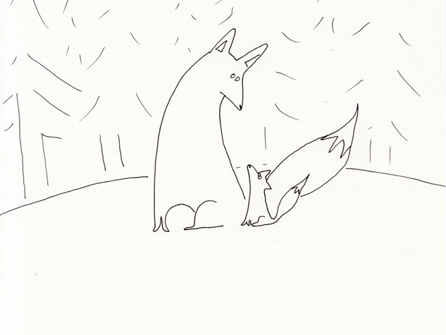 8x10 Big and Little Fox