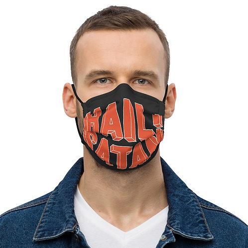 Hail Satan Black face mask