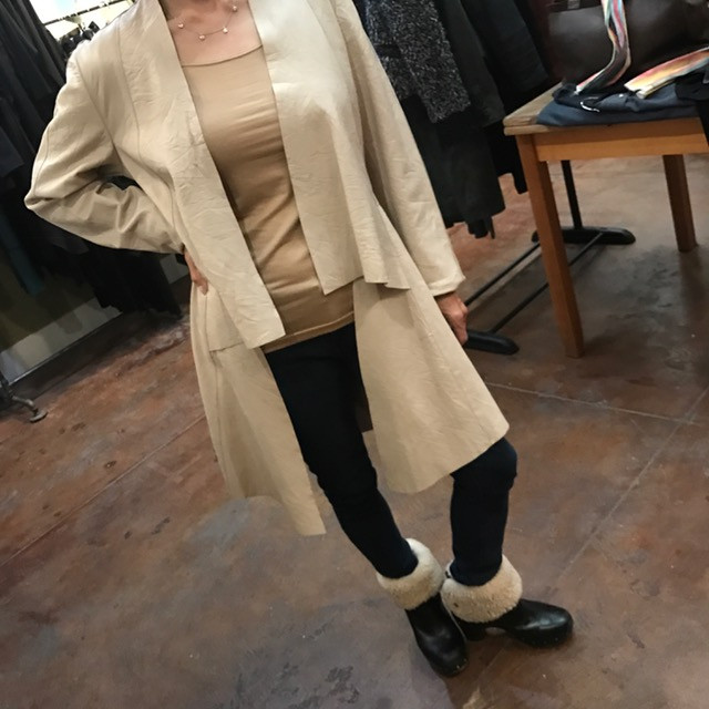 white leather unlined jacket on kathy.jpg
