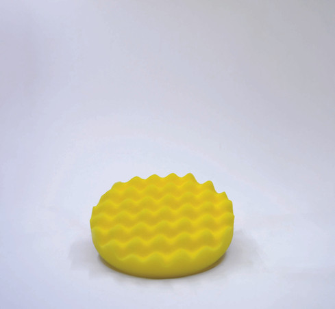 Waffle Cırtlı Polisaj Süngeri Sarı