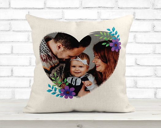 Heart design Photo Cushion Cover