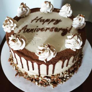 Anniversary Tiramisu Cake