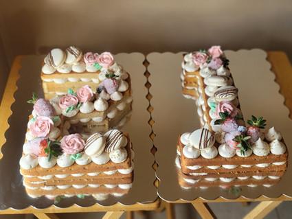 Number Birthday Cakes!