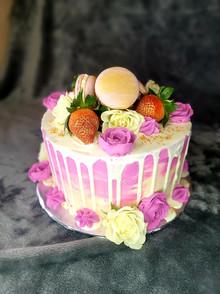 I Love Pink Birthday Cake!