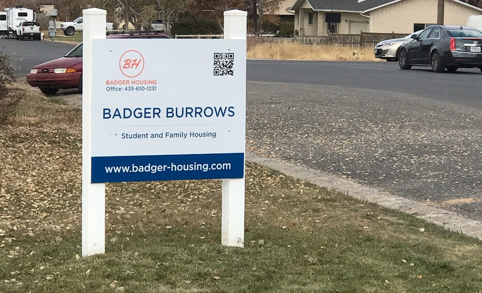 Sign in front yard