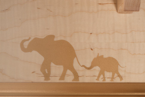 Gold Dust Elephant Decoration