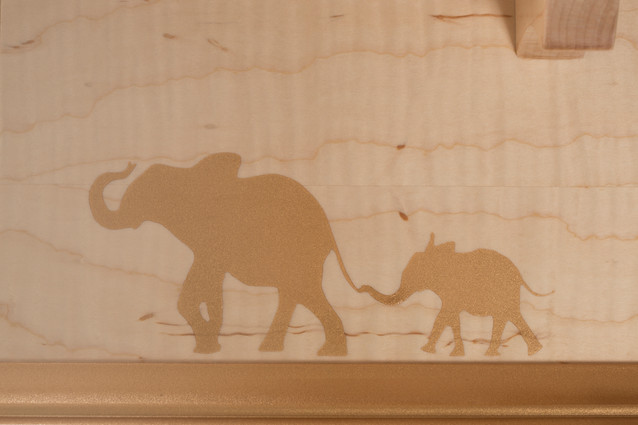 Gold Dust Elephant Decoration