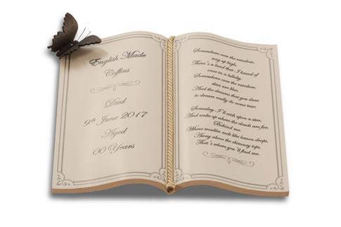 Book Shaped Namepate