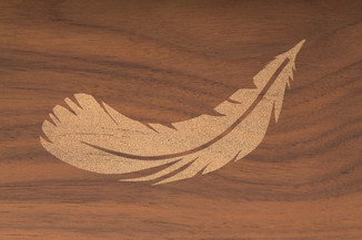 Gold Dust Feather Decoration