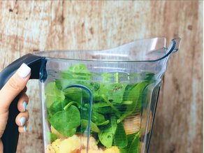 Tropical Green Smoothie with Ginger Essential Oil