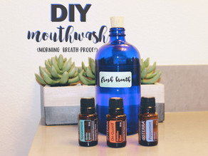 DIY Mouthwash: Morning Breath Buster!