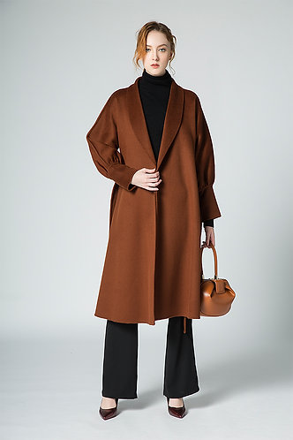 Vintage Style 100% Cashmere wool coat CASH01