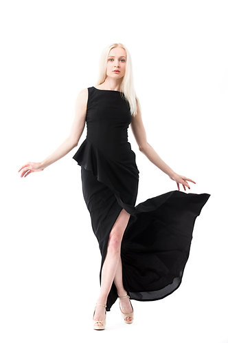 WAVE Classic Evening Designer Black Gown