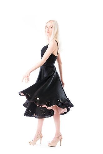 Black Rose floral dress OSBR003
