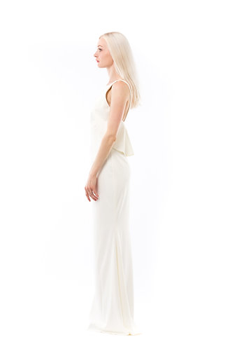 WAVE white classic mermaid dress/wedding dress