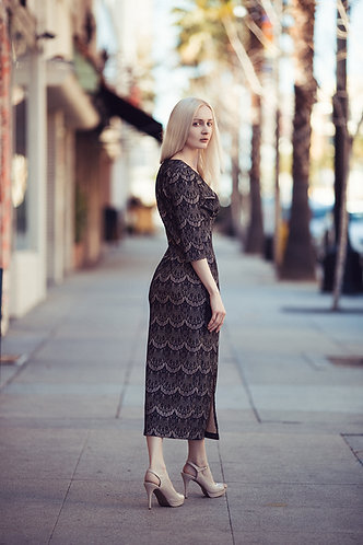 Oriental Lace Vintage Dress