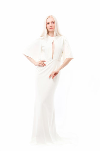 Elegant long simple wedding dress WAVE1003W