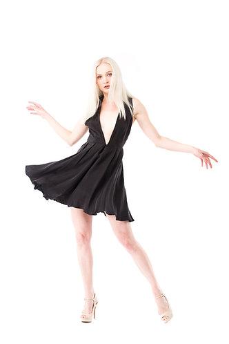 Sexy V Little Black Cocktail Dress OCEAN1508BK