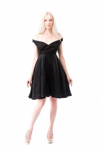 Classic little black dress off shoulder OSC0014BK